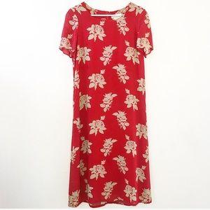 Jaeger floral printed maxi dress